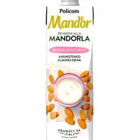 Mandor Almond Milk Senza Zuccheri - mandeļu piens bez cukura 1000ml | Multum