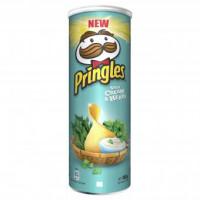 Pringles čipsi ar krējumu, sīpolu un zaļumiem 165g | Multum