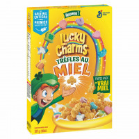 LUCKY CHARMS HONEY CLOVERS brokastu pārslas 309g   Multum