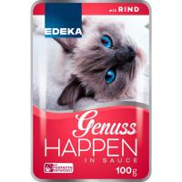 Edeka Genuss Happen Mix Rind slapjā barība kaķiem ar liellopu gaļu 100g | Multum