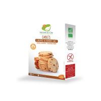 Nature&Cie bezglutēna BIO biskvīta cepumi ar sāļo karameli, 135g | Multum