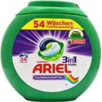 Ariel Color 3in1 kapsulas krāsainas veļas mazgāšanai x54 1458g | Multum