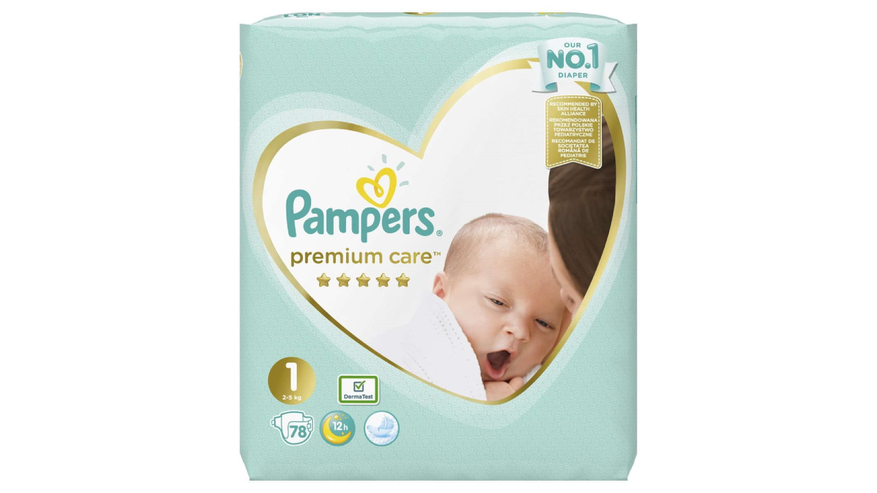 Pampers Premium Care #1 (2-5kg) 78gb
