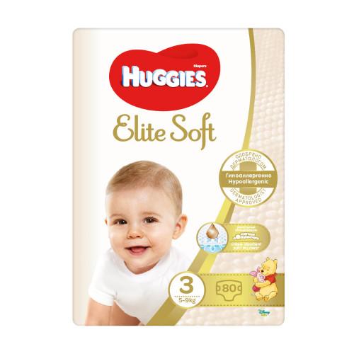 Huggies Elite Soft 3 (5-9kg) 80gb. | Multum.lv