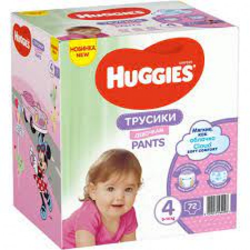 Huggies Pants Girl 4 (9-14kg) 72gb. | Multum