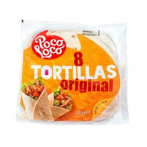 Tortilla-Poco Loco kviešu Ø20cm, 8gb., 320gr | Multum