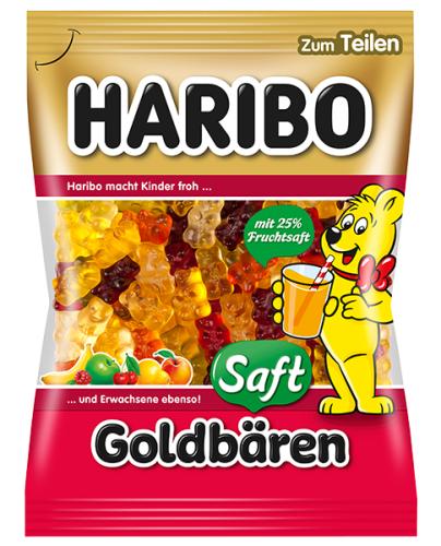 Haribo Saft-Goldbaren želejas konfektes 175g