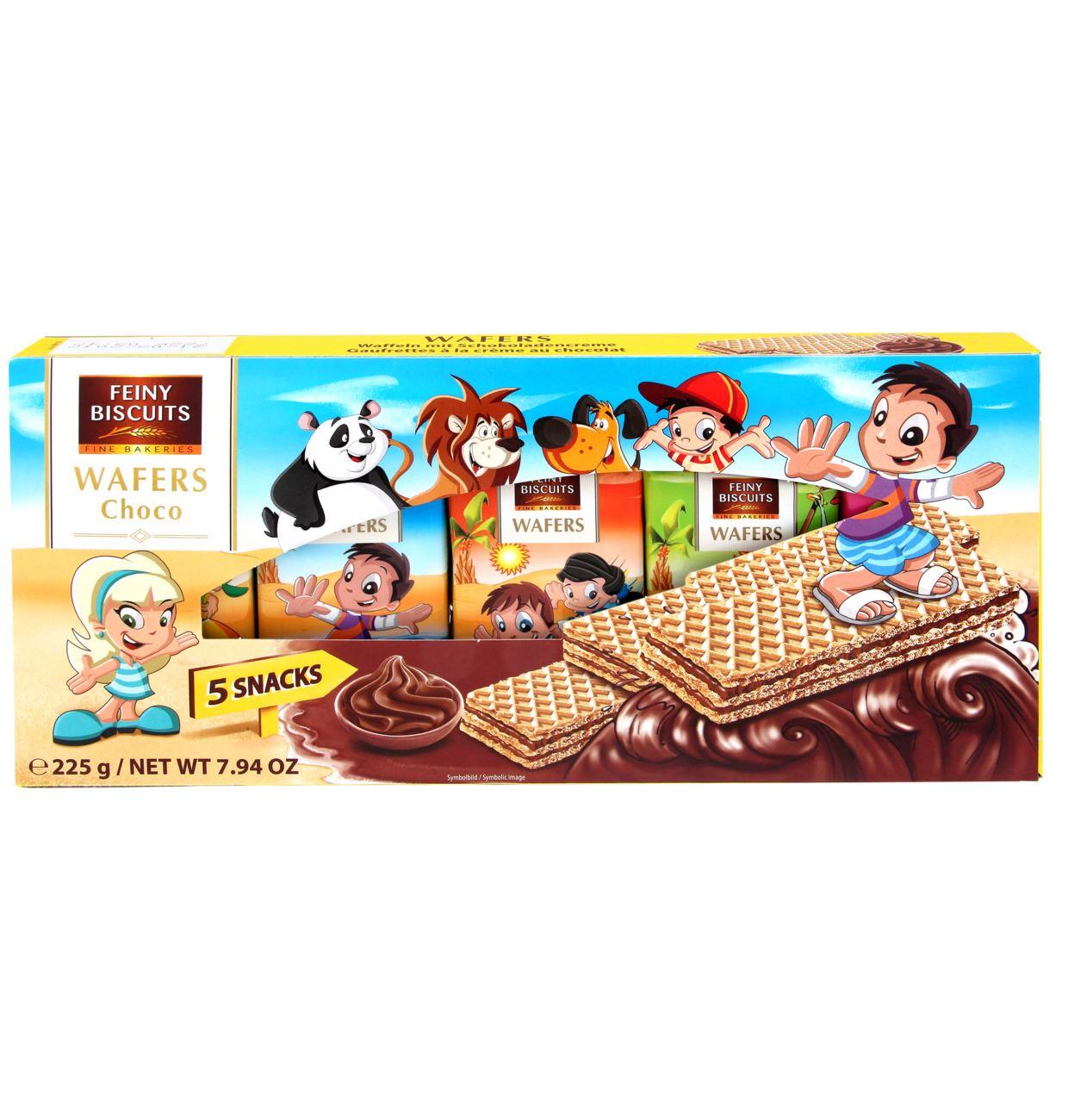 Feiny Biscuits bērnu vafeles ar šokolādes krēmu 225g