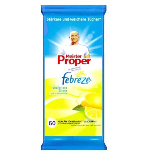 Mr. Proper Febreze Citrus tīrīšanas salvetes x60