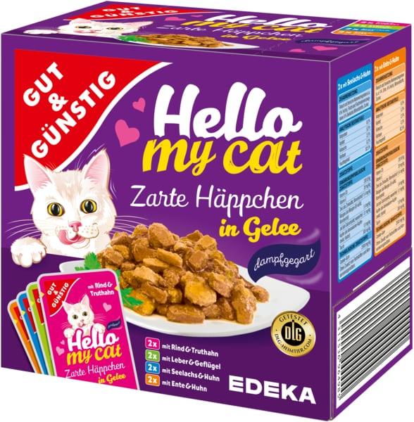 G&G Hello My Cat slapjā barība 8gab. 800g   Multum.lv