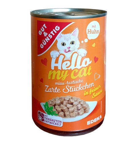 G&G Hello My Cat Huhn konservi kaķiem ar cāli 415g