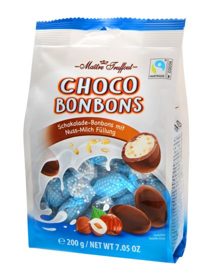 Maitre Truffout Choco Bonbons Nuss-Milch 200g