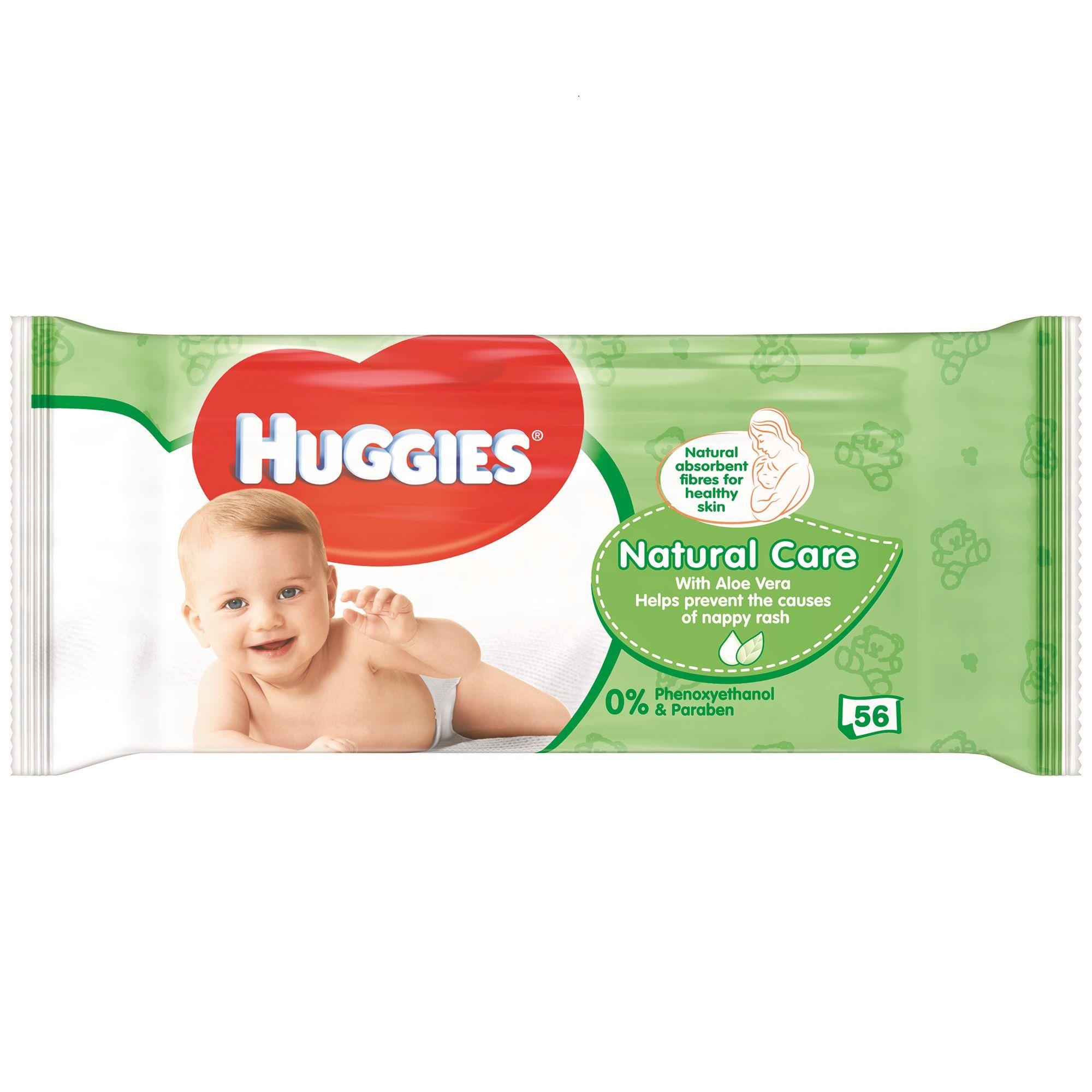 Huggies Natural Care wipes x56