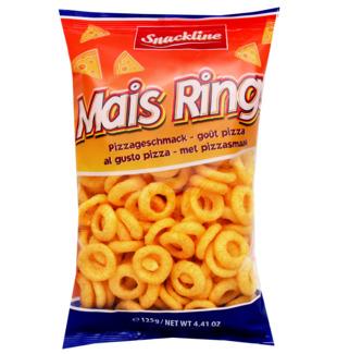Snackline Mais Ring kukurūzas gredzeni ar picas garšu 125g   Multum.lv
