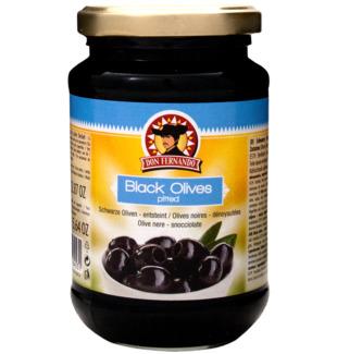 Don Fernando melnās olīvas bez kauliņiem 350g | Multum.lv