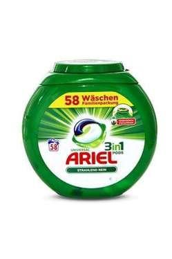 Ariel Universal allin1 caps x58 kapsulas veļas mazgāšanai