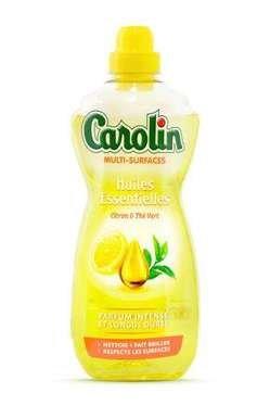 Carolin visu virsmu grīdas tīrīšanas līdzeklis ar citrona un zaļās tējas aromātu 1L