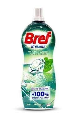 Bref Brillante eucalipto & menta universāls tīrīšanas līdzeklis visām virsmām ar eikalipta un piparmētras aromātu 1250ml   Multum.lv