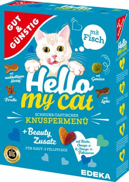 G&G Hello My Cat sausā barība kaķiem ar zivi 1kg