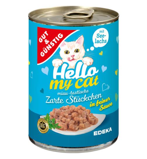 G&G Hello My Cat konservēta barība kaķiem ar mencām 415g